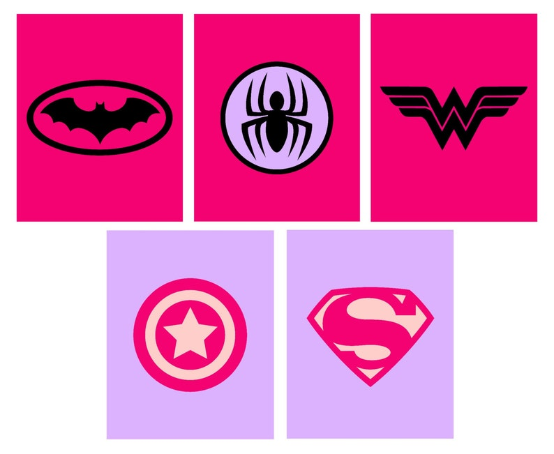 graphic regarding Printable Superhero Logos known as Female Superhero Printables \u003c Woman Superhero Trademarks \u003c Marvel Lady \u003c Spider Lady \u003c Bat Lady \u003c Tremendous Female \u003c Captain The us \u003c Fixed of 5