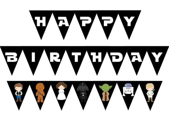 Star Wars Birthday Banner Star Wars Birthday Party Etsy