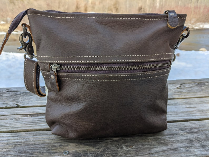 Real Leather Handmade Bag Women Outdoors Rustic Country LB10 Real Leather Cross Body Real Leather Hair-On Purse