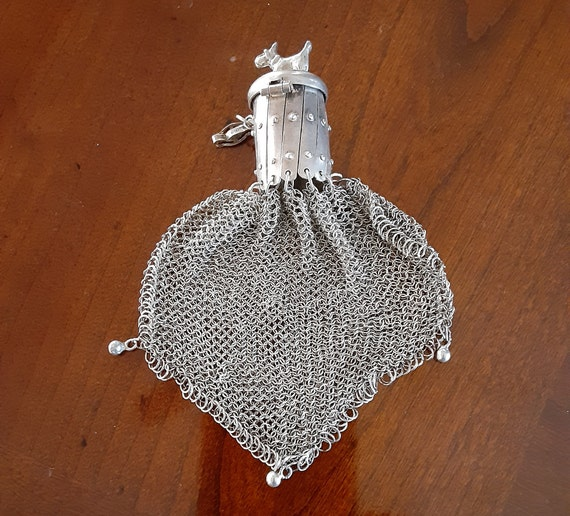 Vintage Metal Mesh Purse with Scotty Dog Closure