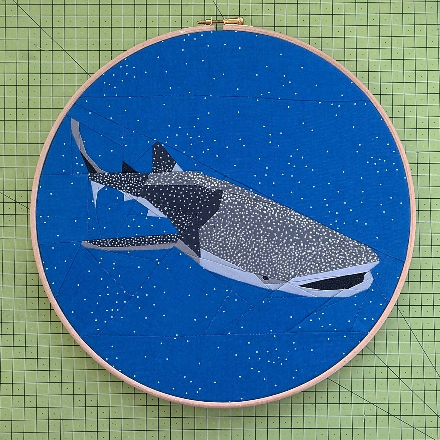Whale Shark Foundation Paper Piecing Quilt Pattern Ocean