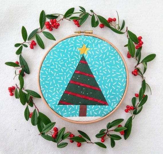 Christmas Tree Paper Piecing Patterns: Christmas Tree Foundation Paper Piecing Pattern Bundle PDF