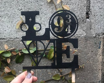 Wedding Cake Topper | Inspired  Style Cake Decorations | 9 3 4  Platform Love Cake Topper Wand Always