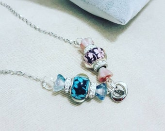 Candy necklace with heart