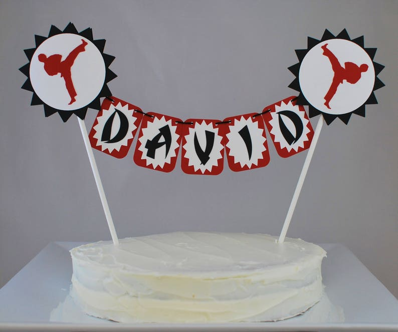 Karate Cake Topper Birthday Party Decorations Tae