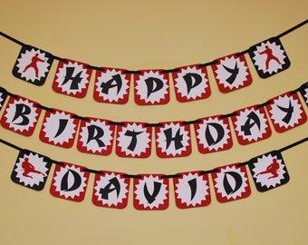 Karate Party Birthday Banner - Tae Kwon Do Party Birthday Banners - Martial Arts Birthday Party Decorations - Ninja Custom Birthday Banner