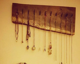 Live Edge Wood Jewelry Designer. Rustic.
