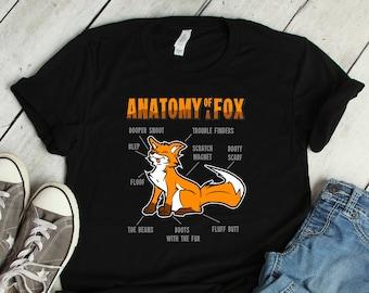 395f89cba Anatomy Of A Fox Furry Fursona T Shirt Women Men Kids Boys Girls / Raglan  3/4 Sleeve / V Neck Tee / Mug / Fursuit Fandom Hoodie Sweatshirt