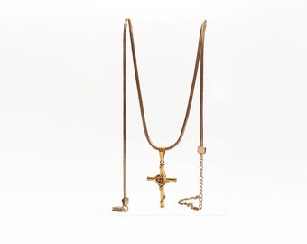 The Gold Statement Cross Necklace