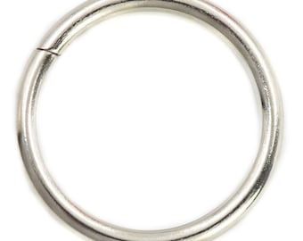 BULK 50 Braided Silver Tone Closed Jump Rings  F534