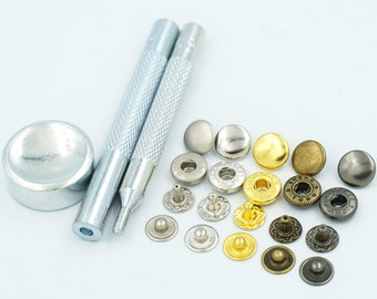 Lion Black Brass Spring Press Stud Snap Fastener Size 00 7mm