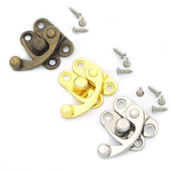 40mm Yellow Decorative Hasp Jewelry Wooden Box Catch 2 pcs Toggle Latch