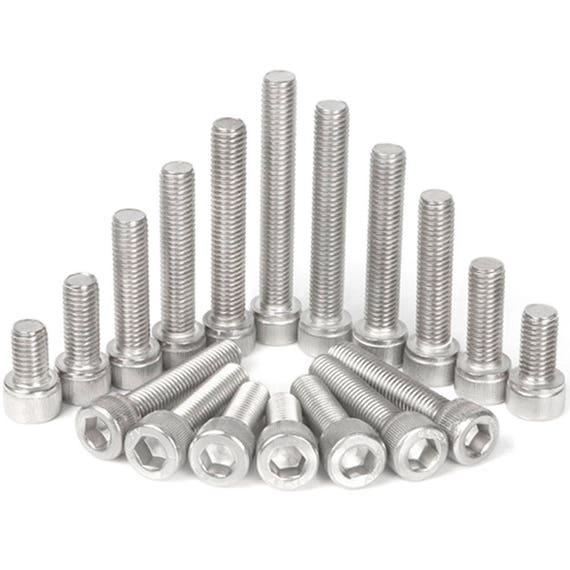 50pcs Metric Thread M5x12mm 304 Stainless Steel Hex Socket Head Cap Screw