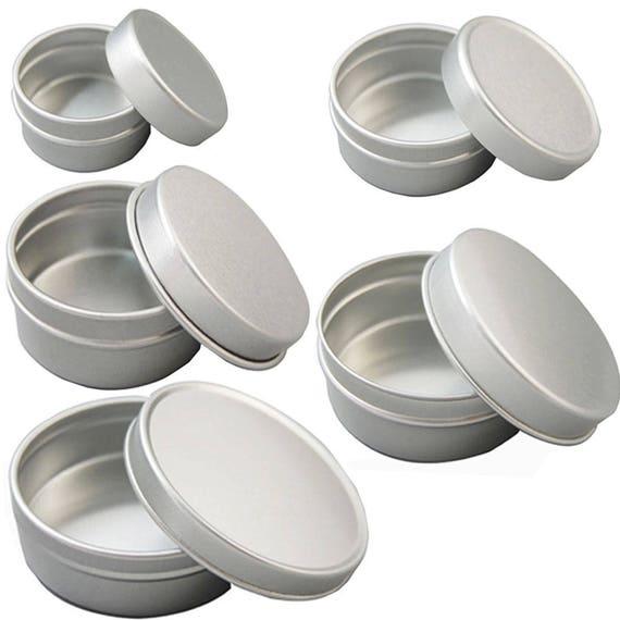f02819460e15 10 Pcs Aluminum Empty Cosmetic Pots Lip Balm Container Jar Nickel Tins 5g  10g 20g 30g 50g