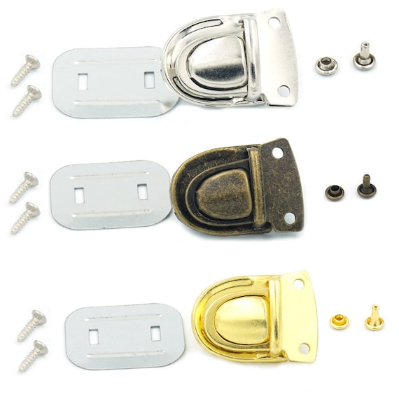 2 Sets ZI Closure Catch Tuck Lock For Leather Bag Case Clasp hangbag Purse Webbing Nylon Nickle