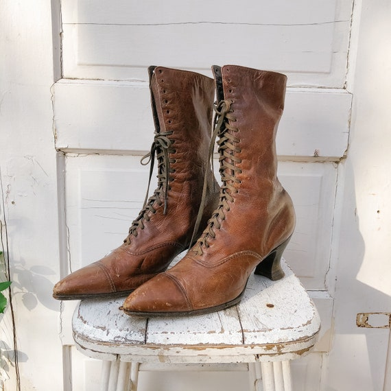 Antique Turn of the Century Women's Leather Boots,