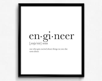 Engineer Gifts Etsy