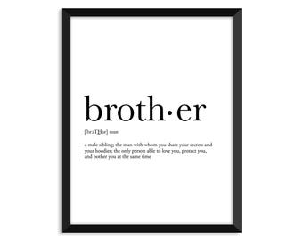 Brother Quotes Etsy