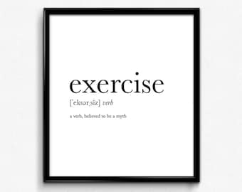 Funny Fitness Quotes Funny fitness poster | Etsy Funny Fitness Quotes