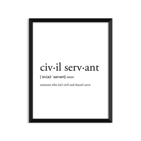 Civil Servant Gift Definition College Dorm Girl Dictionary Etsy