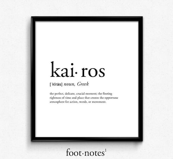 kairos definition romantic dictionary art print office