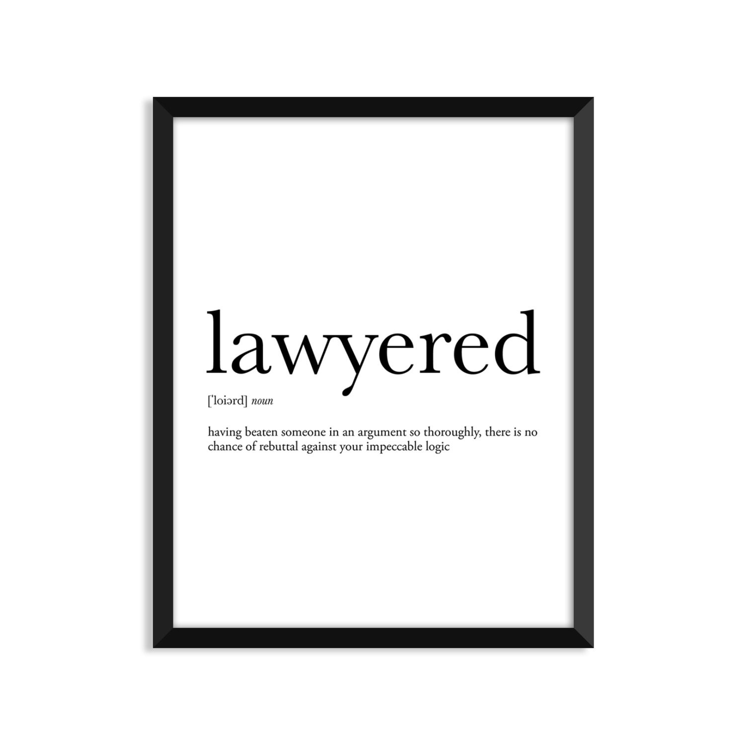 lawyered definition art poster dictionary art print office | etsy