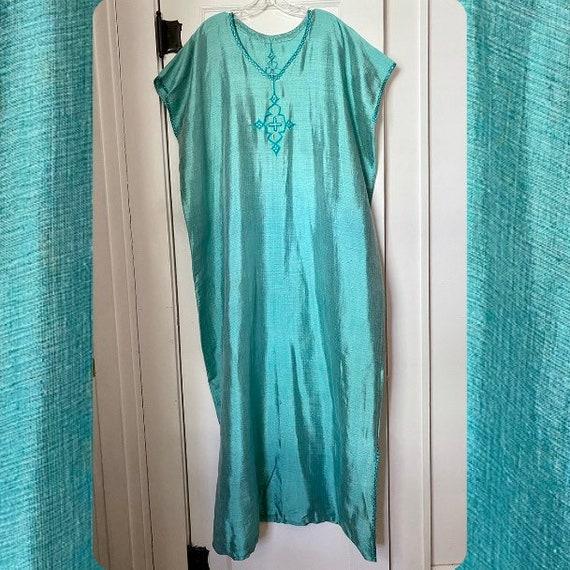 Vintage Turquoise Kaftan