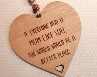 Mum Gift, Mum like you, Birthday Christmas Rustic Wooden Plaque, Thanks Mum gift Best Mum, If Everyone Had a Mum Like you, My Special Mother