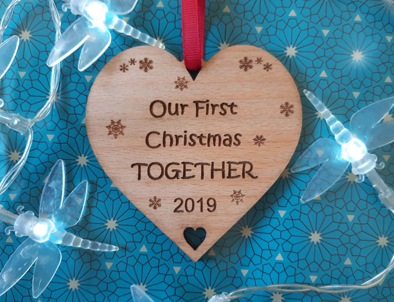 Our First Christmas TOGETHER 1st Together Tree Decoration image 0