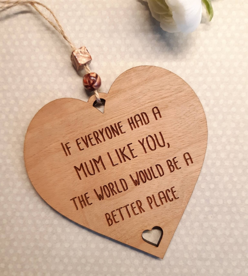 Mum Gift Mum like you  Birthday Rustic Wooden Plaque Best image 0