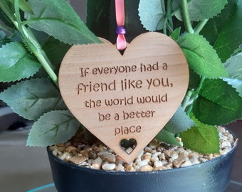 Best Friend Gift, Friendship Wooden Plaque, My Bestie, Friend Gift, Friend Heart, Friend like you, Birthday Present / Thank you