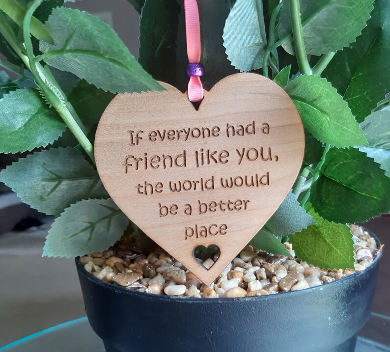 Best Friend Gift Gift for Friend Friendship Wooden Plaque image 0