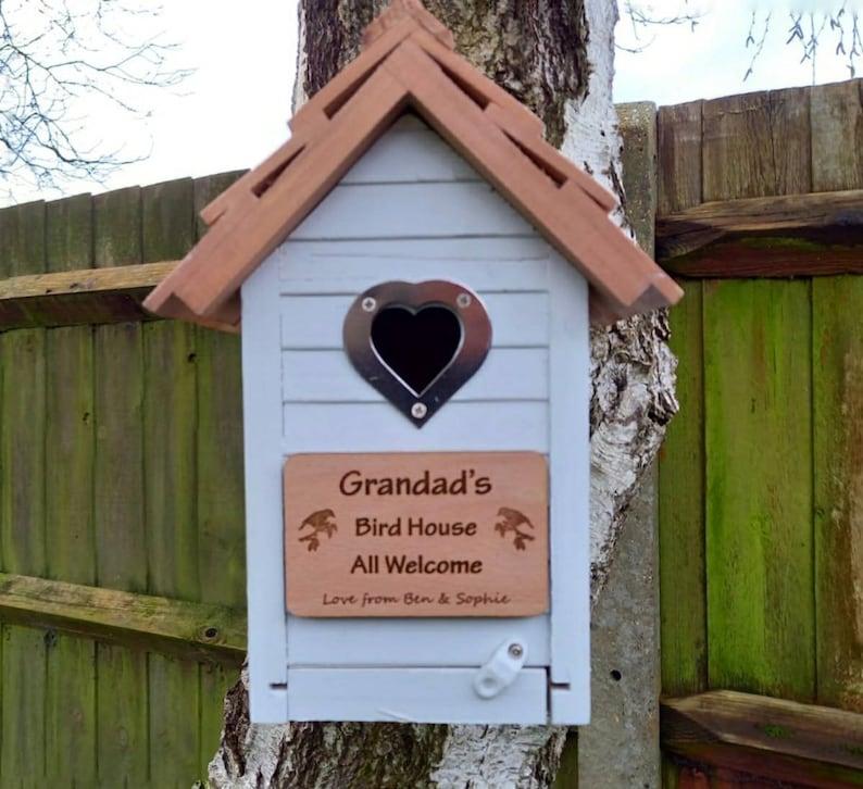 Bird Box Bird House Personalised Nesting Box Birdbox image 0