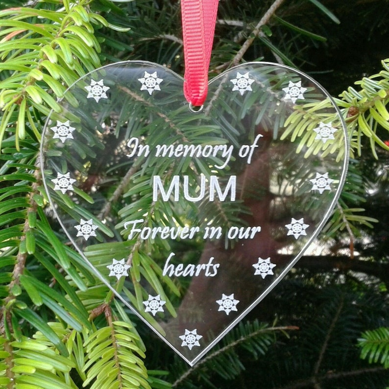 Memory of MUM Christmas Tree Decoration Memorial Decoration image 0