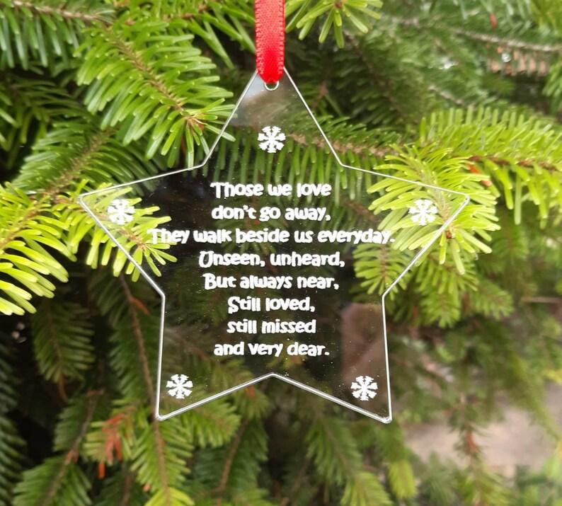 Christmas STAR In Memory Memorial  THOSE we LOVE image 0