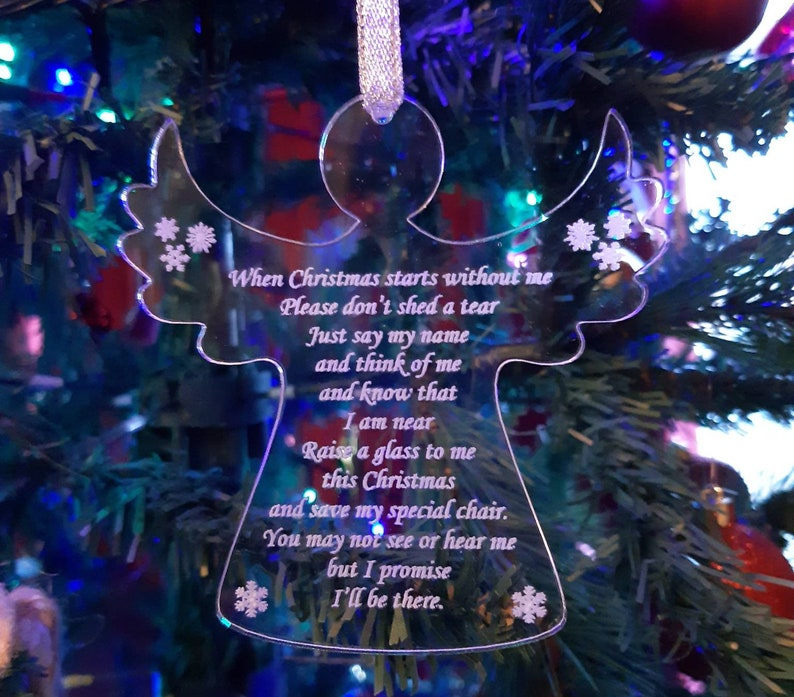 Memorial ANGEL Christmas Tree Decoration SPECIAL CHAIR image 0