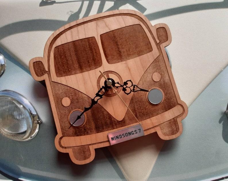 Camper Van Gift Clock Personalised VW Campervan Clock image 0