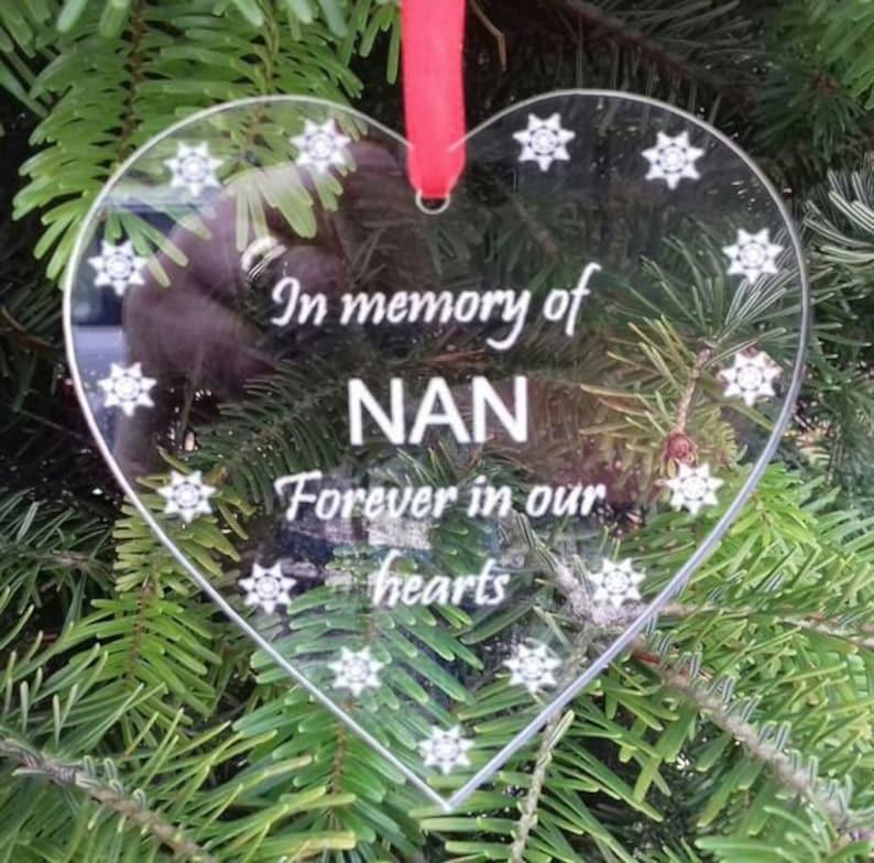 In Memory NAN Christmas Tree Decoration Nan Memorial HEART image 0