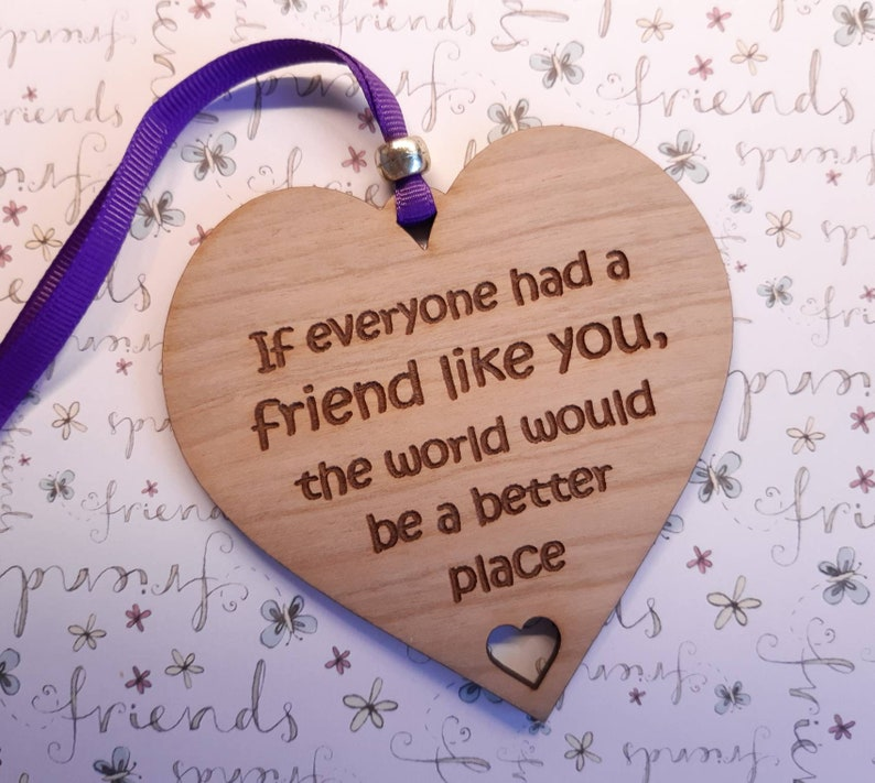 Best Friend Gift Best Friend Plaque Friendship sign image 0