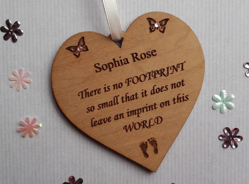 Personalised Baby Loss Memorial Wooden Plaque Miscarriage image 0