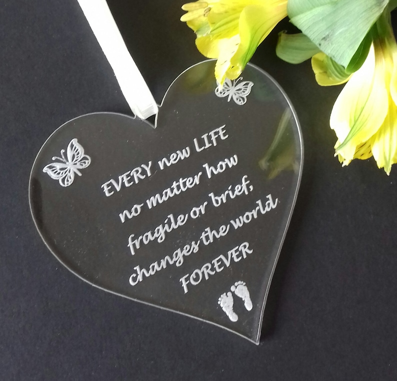 BABY Memorial Heart Baby Loss Gift Miscarriage Heart image 0