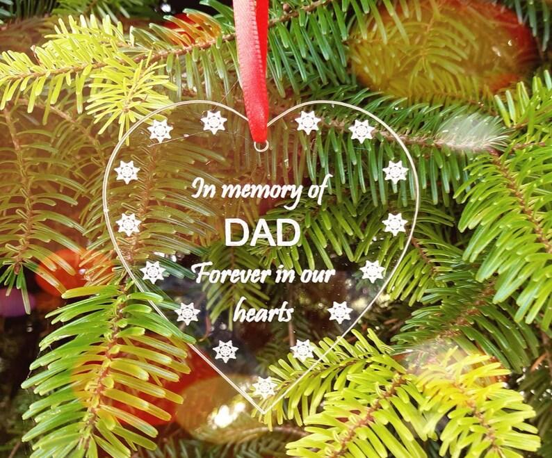 Memory of DAD Christmas Tree Decoration Memorial Decoration image 0