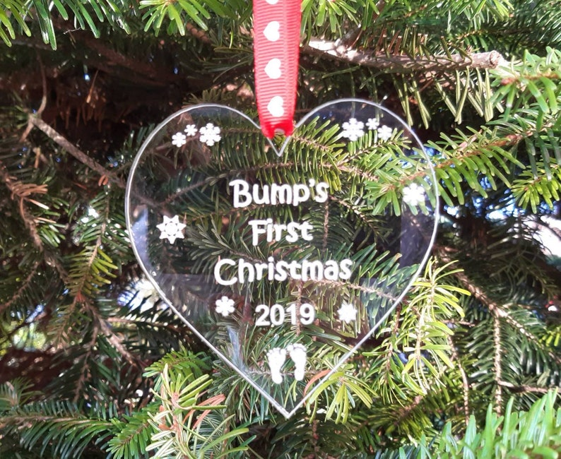 BUMP'S First Christmas Bump Tree Decoration BABY Bump image 0
