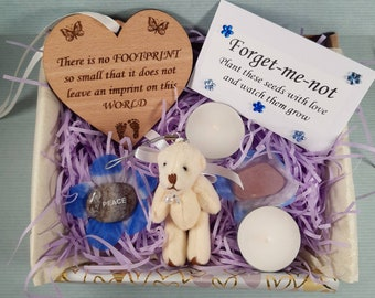 Baby Loss Gift Box, Thinking of You, Miscarriage, Sympathy Gift, Pregnancy Loss, Baby Memorial Keepsake, Box of Love, Care Package, Bear Hug