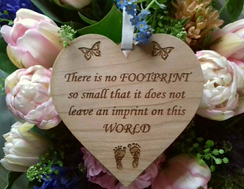Miscarriage Support Gift Baby Loss Keepsake Plaque Loss of image 0