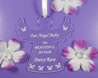 Miscarriage Gift, BABY MEMORIAL, Personalised Plaque, Baby Loss, ANGEL Baby, Remembrance, Pregnancy Loss Comfort, In Memory Keepsake