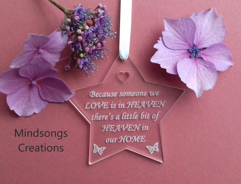 STAR Memorial Decoration In Memory Gift Heaven in our Home image 0