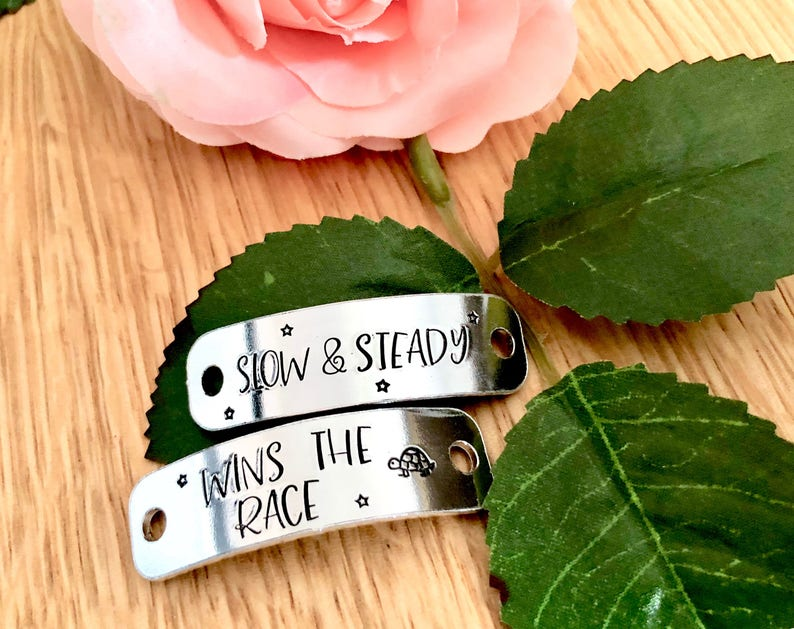 Running Gift Gift for Her Slow and Steady Wins Trainer Tags Shoe Lace Tag Shoe Tags Shoe Laces Gym Accessory Gym Lover Runner Gift