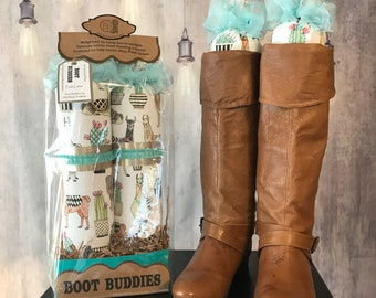 Llama & Southwest Boot Trees - Closet Organizer - Boot Freshener - Handmade - Customizable - Unique Gift Idea - Boot Stuffer - Boot Buddies!