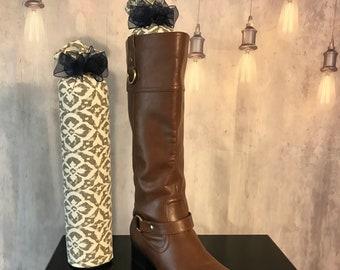 Gray & Navy Boot Tree - Closet Organizer - Boot Freshener - Handmade Item - Customizable - Gift - Boot Stuffer - Boot Stands - Boot Buddies!